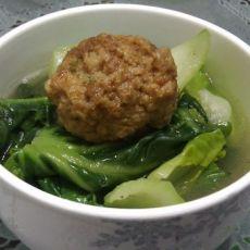 青菜焖肉丸的做法