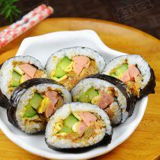 韩式泡菜紫菜包饭的做法
