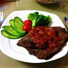 黑椒茄汁牛排的做法