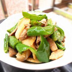 青椒杏鲍菇炒肉的做法
