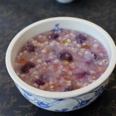 紫薯薏米粥的做法