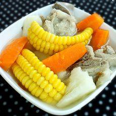 淮山玉米骨头汤的做法
