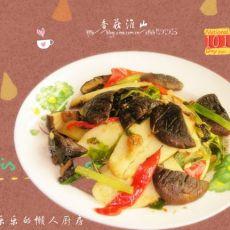 香菇炒淮山