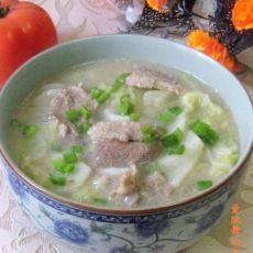 肉片山药炖白菜