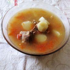 西红柿山药排骨汤