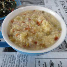 小米绿豆莲子粥