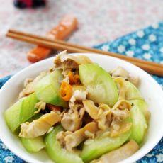 丝瓜炒河蚌肉