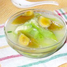 皮蛋丝瓜汤