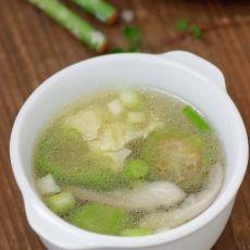 快手鲜蘑丝瓜蛋汤的做法