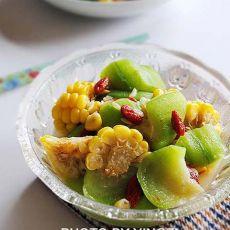 丝瓜玉米烧的做法