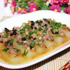 豆豉肉末蒸冬瓜的做法
