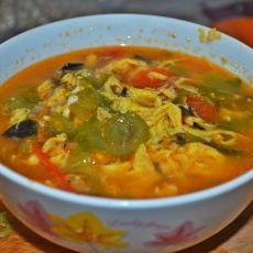 西红柿丝瓜鸡蛋汤的做法