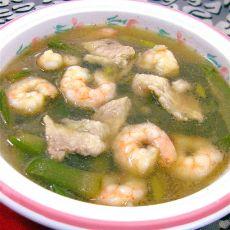 虾仁丝瓜肉片汤的做法