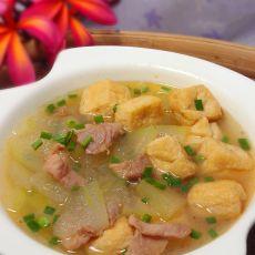 冬瓜豆泡肉片汤