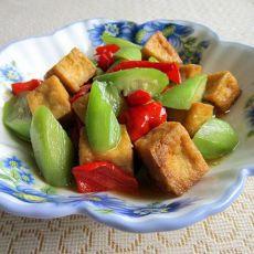 丝瓜炒豆腐泡