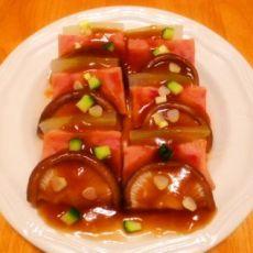 清蒸冬瓜三鲜片的做法