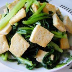 油菜烧豆腐的做法