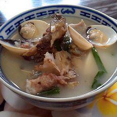 白贝豆腐鱼头汤