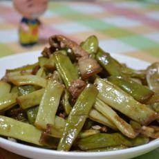 农家肉焖扁豆