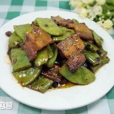豆豉五花肉炒扁豆的做法
