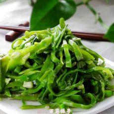清炒尖椒扁豆丝的做法