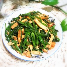 扁豆丝炒豆腐