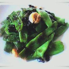 蒜头豆豉炒扁豆