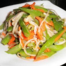 扁豆焖金针菇