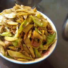 肉丝青椒扁豆