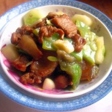 蒜香黄瓜扁豆炒肉片