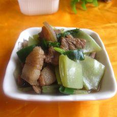 白菜扁豆炖肉