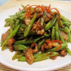 豆豉花肉炒扁豆