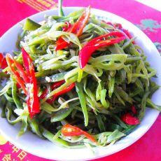 朝天椒炒扁豆的做法