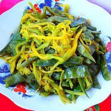 黄花菜烧扁豆条的做法