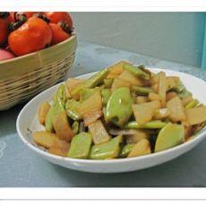 扁豆萝卜片的做法