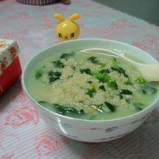 青菜燕麦粥