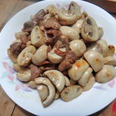 蘑菇炒瘦肉