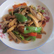 鸡肉炒蘑菇