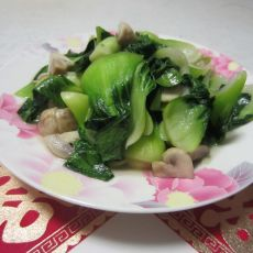 青菜蘑菇的做法