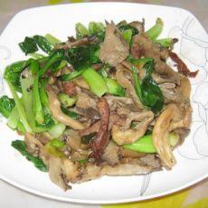 油菜炒蘑菇