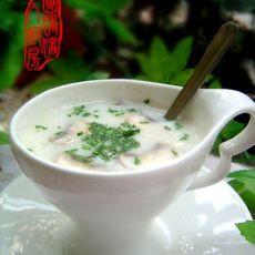 鸡蓉蘑菇汤