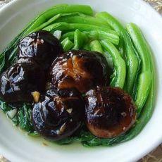 浇汁香菇青菜的做法