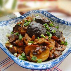 干煸菌菇肉片