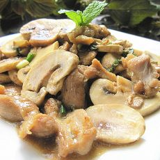 香料蘑菇炒鳄鱼肉