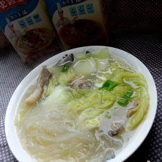 白菜蘑菇粉丝上汤