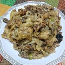 咖哩粉蘑菇炒鸡