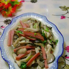 火腿炒蘑菇