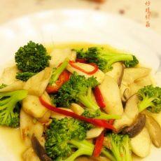 沙茶酱炒蘑菇