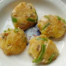 香菇青椒土豆饼的做法