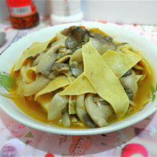 豆皮炒蘑菇的做法